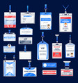 identification id badges and cards vector image