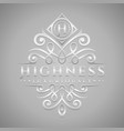 letter h logo - classic luxurious silver vector image vector image