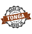 made in tonga round seal vector image vector image