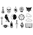 magic set mystery items mystic alchemy vector image vector image