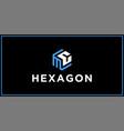 mc hexagon logo design inspiration vector image vector image