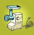 meat grinder kitchen equipment vector image