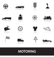 motoring icons eps10 vector image vector image