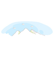 Mountain and sky vector image