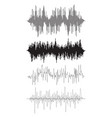 Music background of audio sound waves pulse