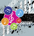 music festival background design vector image vector image