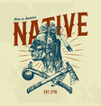 native indian traditions t-shirt national vector image