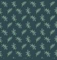 oak leaves green seamless pattern vector image