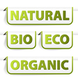 organic bookmarks vector image vector image