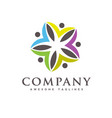 people care community colorful logo vector image