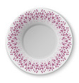 plate with crimson pattern vector image