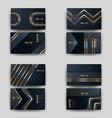 print business card golden luxury vector image vector image