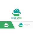 real estate company logo design house logotype vector image