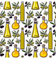 seamless pattern backdrop design of olive vector image