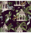 seamless pattern with ancient arbor and wild vector image vector image