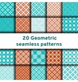 Set of 20 seamless patterns vector image vector image