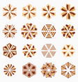 set of geometric shapes vector image vector image