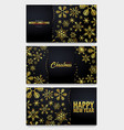 set of marry christmas and happy new year banner vector image