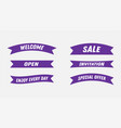 set of ribbons in ultra violet colors trend ultra vector image