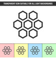 simple outline transparent honeycomb icon vector image