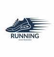speeding running shoe icon symbol or logo vector image vector image