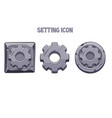 Stone settings icons round and square gear
