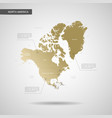 stylized north america map vector image