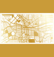 syracuse usa city map in retro style in golden vector image