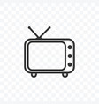 television icon on transparent background vector image vector image