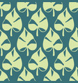 tropical leaves seamless pattern nature foliage vector image