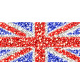 united kingdom sparkling flag vector image