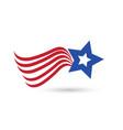 usa abstract flag star symbol vector image vector image