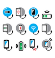 Wireless charging pad for smartphone or tablet ic vector image vector image