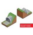 isometric of railway tunnel vector image