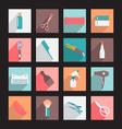 haircutting tool Flat icons Beauty salon vector image
