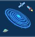milky way galaxy astrology outdoor milkyway spiral vector image
