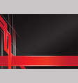 abstract sharp metallic frame red black vector image vector image
