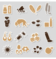 allergy and allergens color stickers set eps10 vector image vector image