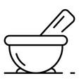 aloe vera bowl icon outline style vector image vector image