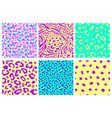 animal print seamless pattern set vector image vector image
