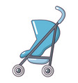 baby carriage simple icon cartoon style vector image vector image