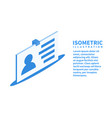 badge icon isometric template for web design vector image vector image