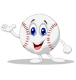 Baseball ball cartoon character vector image vector image