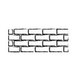 brick wall construction concret image vector image