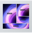 brochure flyer layouts with abstract colorful vector image vector image