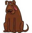 brown big dog cartoon vector image
