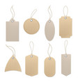 brown craft labels different paper vintage blank vector image vector image