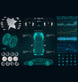 car service in style hud vector image