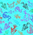 Cartoon fish pattern vector image vector image