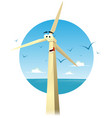 cartoon happy eolian character vector image